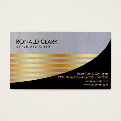 Retro black gold financial services construction business card retro black gold financial services construction business card consultant business job profession diy customize reheart Images