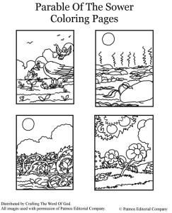 Parable Of The Sower Coloring Pages Parables For Kids