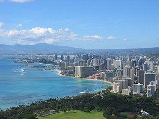 Waikiki View from Diamond Head, Honolulu, Oahu, Hawaii