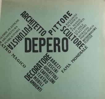 Fortunato Depero, Depero Futurista, 1913-1927, Milano; Parigi : Edizione della Dinamo, [1927].