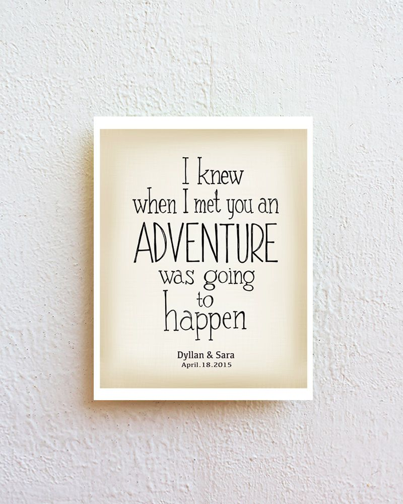 Winnie The Pooh Quote Adventure Wall Art Print Inspirational Quote Art Poster Personalized Adventure Wall Art Personalized Couple Gifts Wall Art Quotes