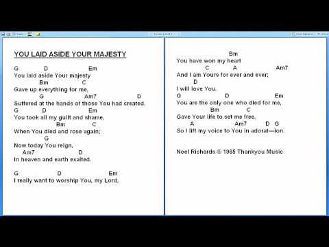Amazing You Laid Aside Your Majesty Guitar Chords Pattern Guitar