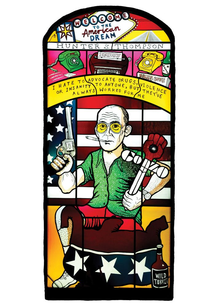 Hunter S Thompson by Neal Fox | THE COB GALLERY