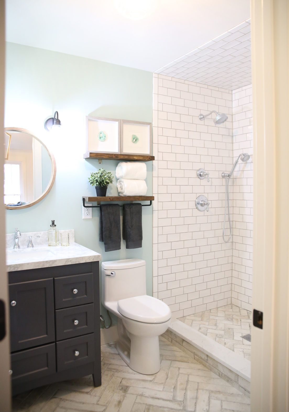 Garage To Airbnb A Multifunctional Space The Handmade Home Bathrooms Remodel Multifunctional Space Small Bathroom