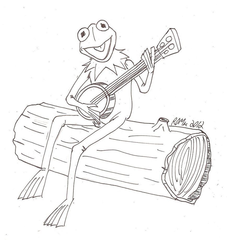 kermit the frog coloring pages - Kermit The Frog Coloring Pages