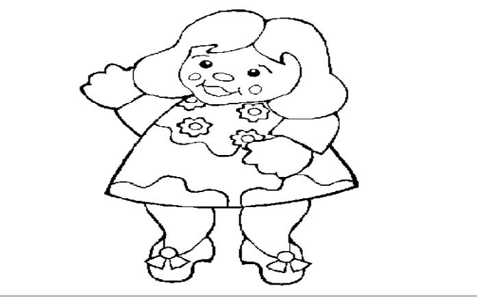 Imagenes De Munecas Para Colorear Princesa Para Pintar Dibujo De Ninos Jugando Munecas Bonitas