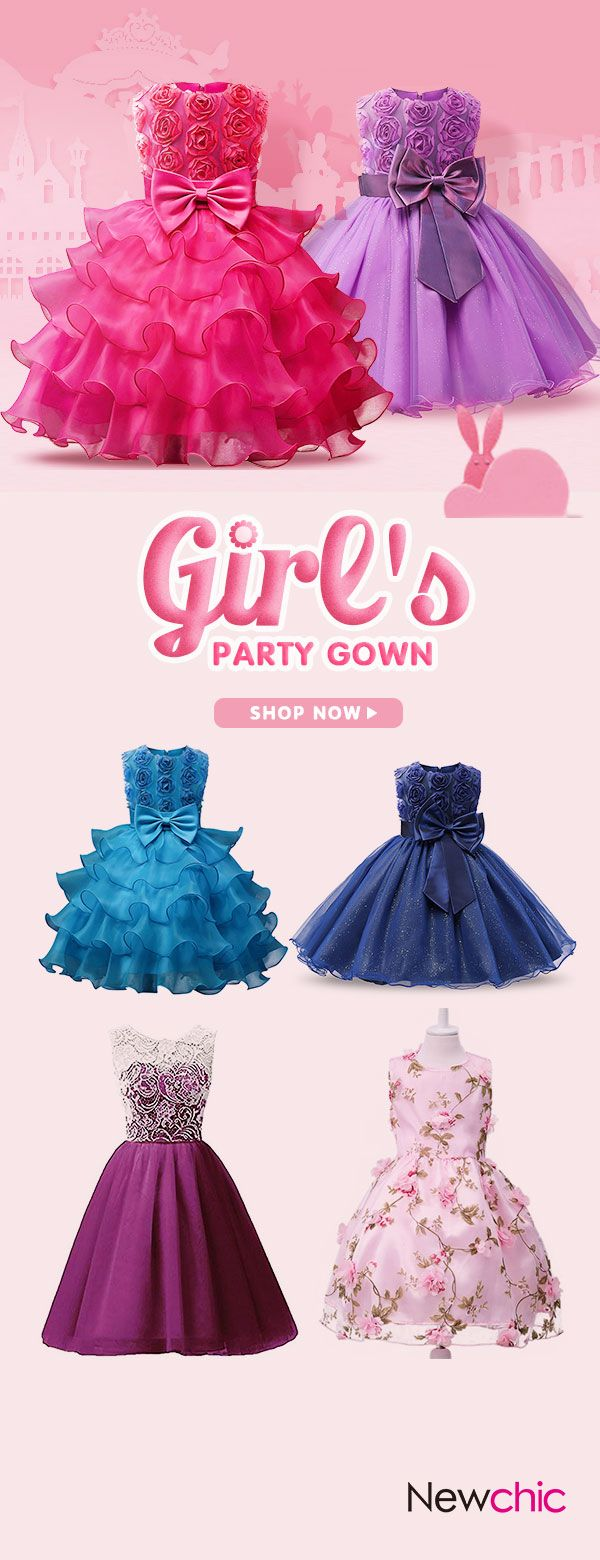 Off girls lace princess party dresses toddler formal dress ball