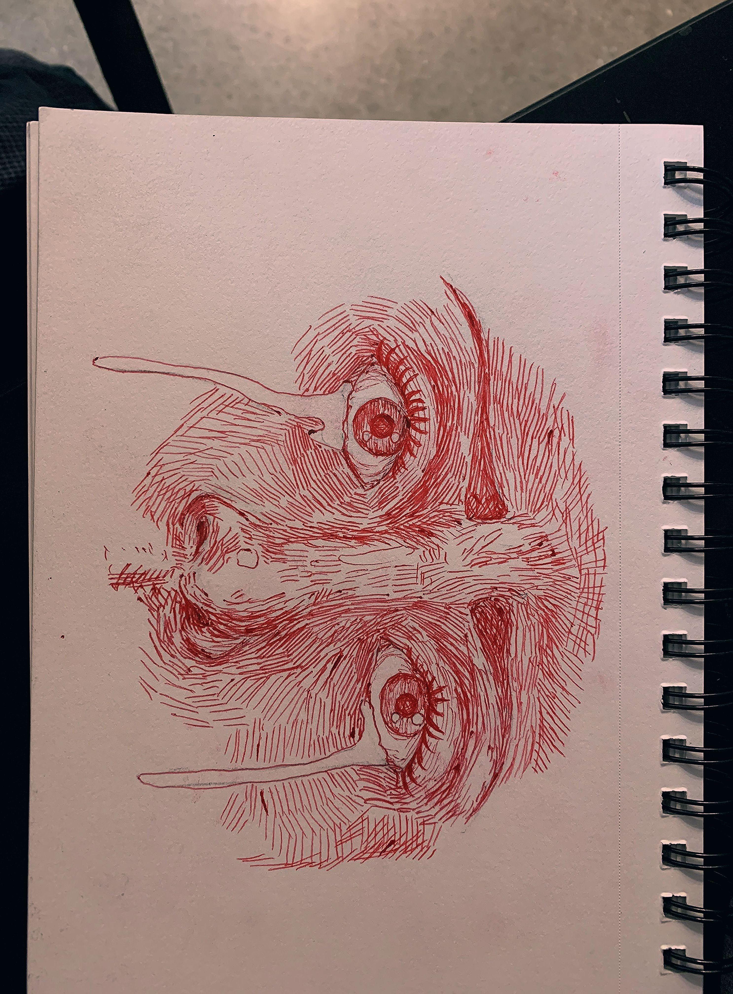 Red Eyes Sketch Dogsphotography In 2020 Art Journal Inspiration Sketch Book Art Sketchbook