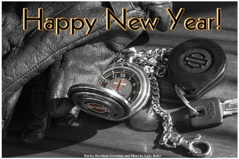 Happy New Year With Images Harley Davidson Lady Riders Harley