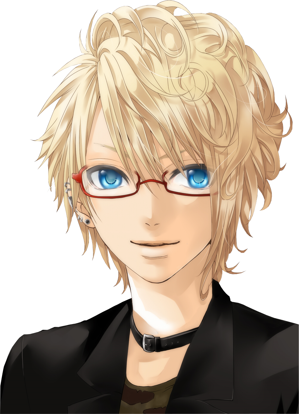 Aiden Walkinson Anime Guys With Glasses Anime Guys Shirtless Curly Hair Styles