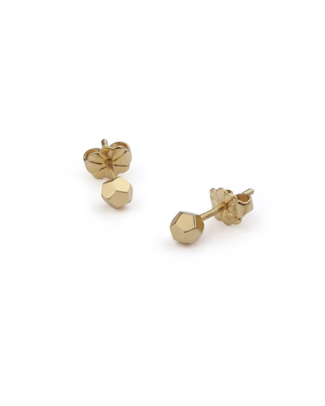 yellow stud delicate index gold in earrings