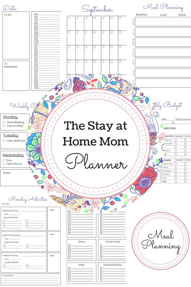 The Stay At Home Mom Planner Every Mom Needs A Schedule Mom Planner Mom Schedule Stay At Home Mom