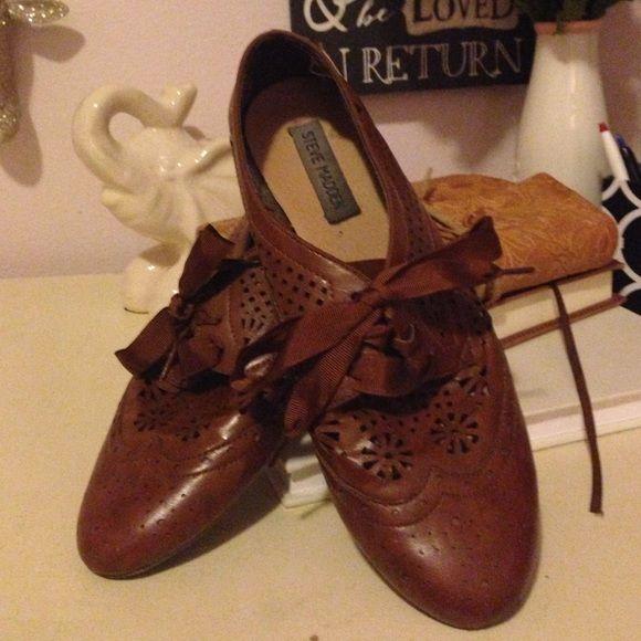 e40fe2e2e56 Steve Madden Size 9 leather loafers! Worn once! Super stinkin cute ...