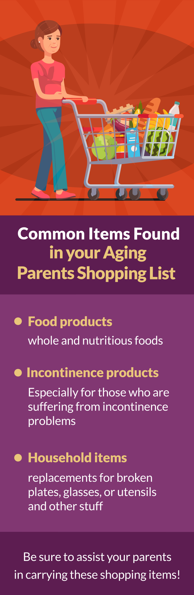 Common Items Found in your Aging Parents Shopping List A