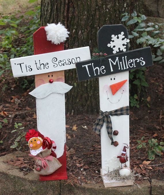 Wood Christmas Craft Ideas Part - 28: Image Result For Snowman Fence Craft. Holiday CraftsSanta CraftsWooden ...