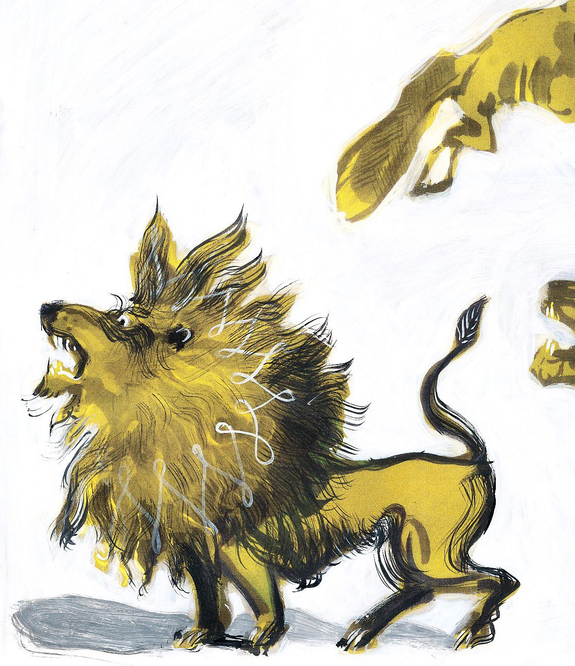 Roaring Lion - Children's Book Illustration                              …