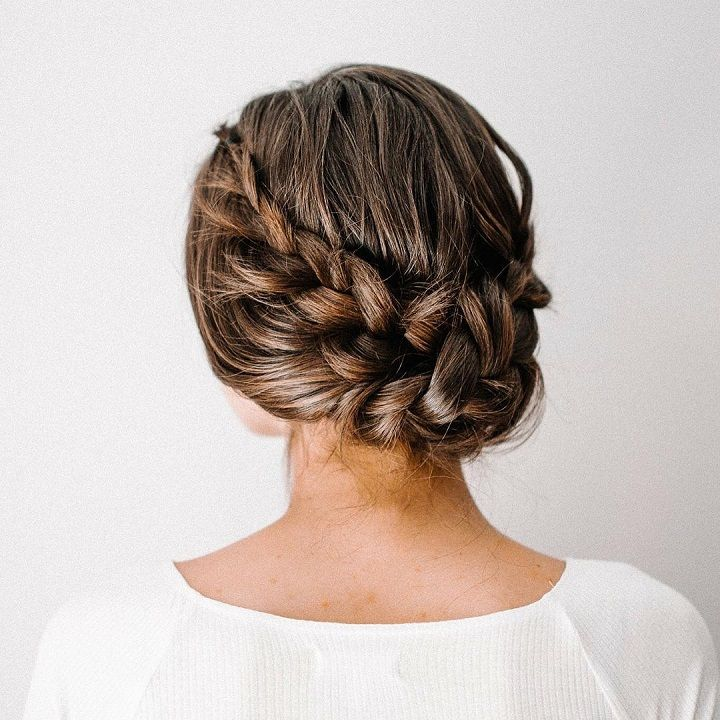 Textured braided updo #weddinghair #hairstyles #braided #hairstyle #bridalhair