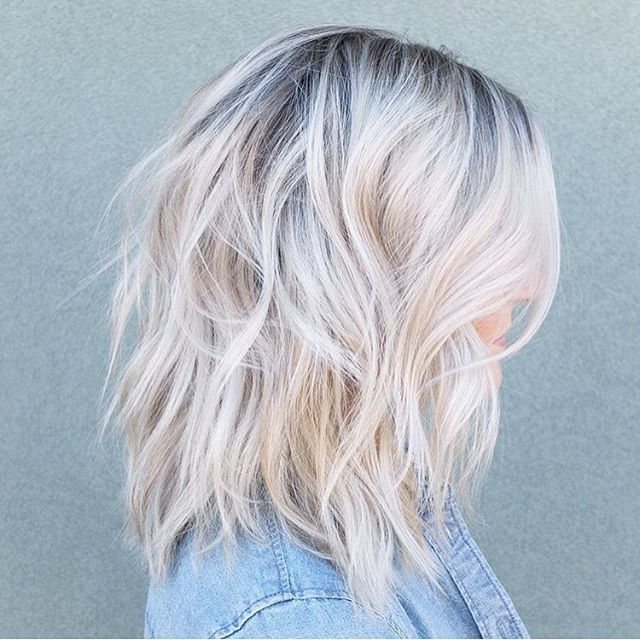 Haircut Repin By Dostinja Wtf Is Fashion Featuring My Thoughts Inspirations Personal Style Short Hair Balayage Icy Blonde Hair Blonde Hair With Roots