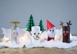 DIY – Weihnachtslandschaft aus Papierrollen für drinnen - Søstrene Grene #deconoel
