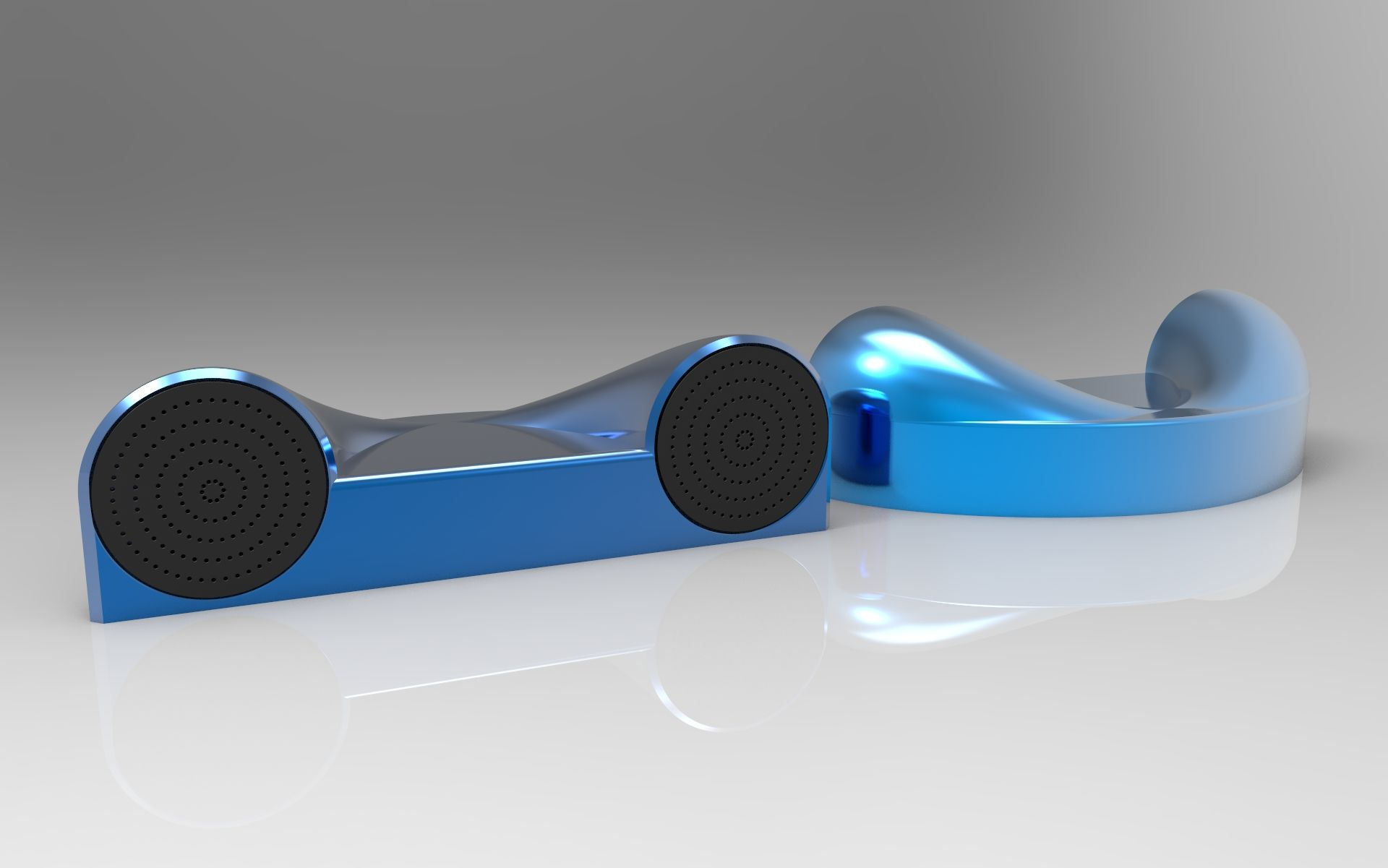 Speaker Concept. Created on Solidworks. Render done on Keyshot.