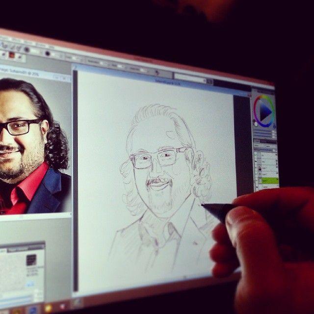 Work in progress portrait painting drawing digitalpainting sketching wacom