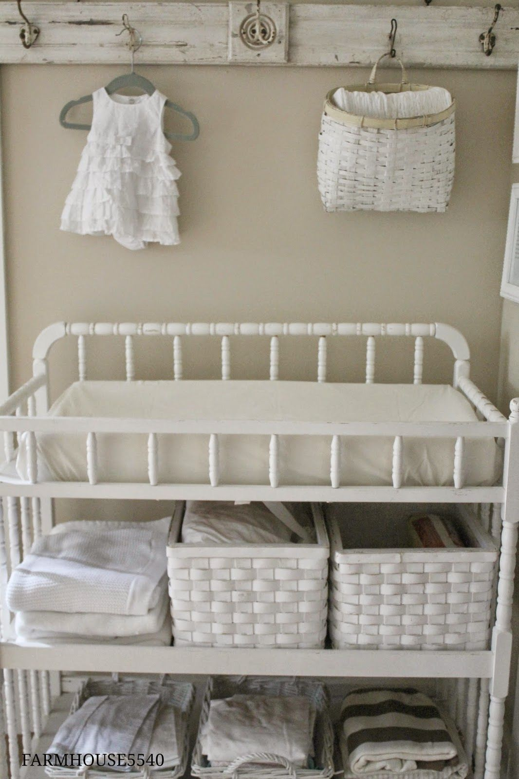 Hang Items Above Changing Table. FARMHOUSE 5540: Babyu0027s Room Part Two