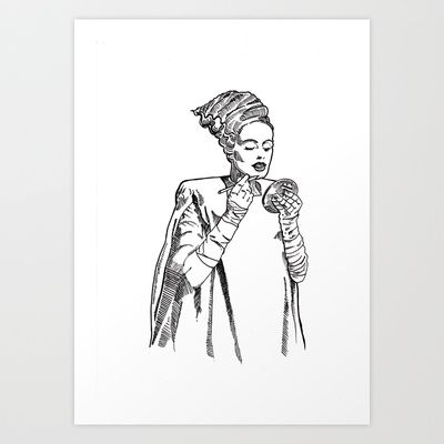 The Bride  Art Print by Christopher Chouinard - $20.00
