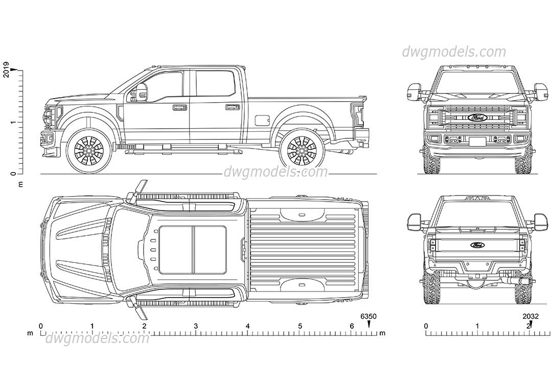 Ford F 250 Super Duty F250 Car Drawings Work Truck