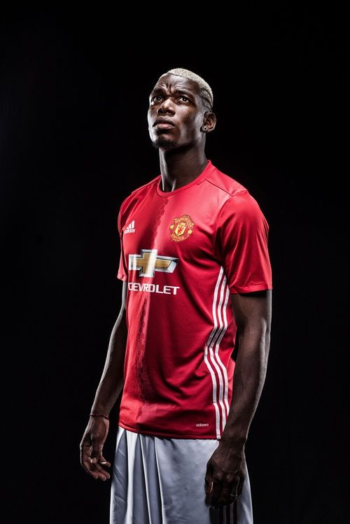 Get Great Manchester United Wallpapers Galleries Gallery: Paul Pogba in Manchester United kit - Official Manchester United Website
