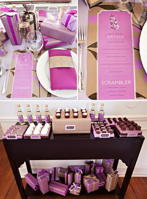 Baby Shower For Little Girl Purple Color Palette Yes I Am