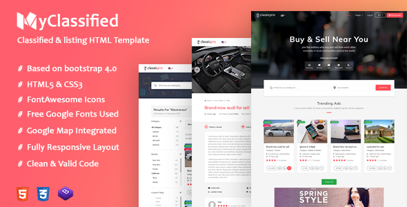 We accommodate every niche category in the templates with outstanding characteristics that strives you towards success. Classified Ads Html Website Templates My Classified By Antiqcart Website Template Html Website Templates Templates