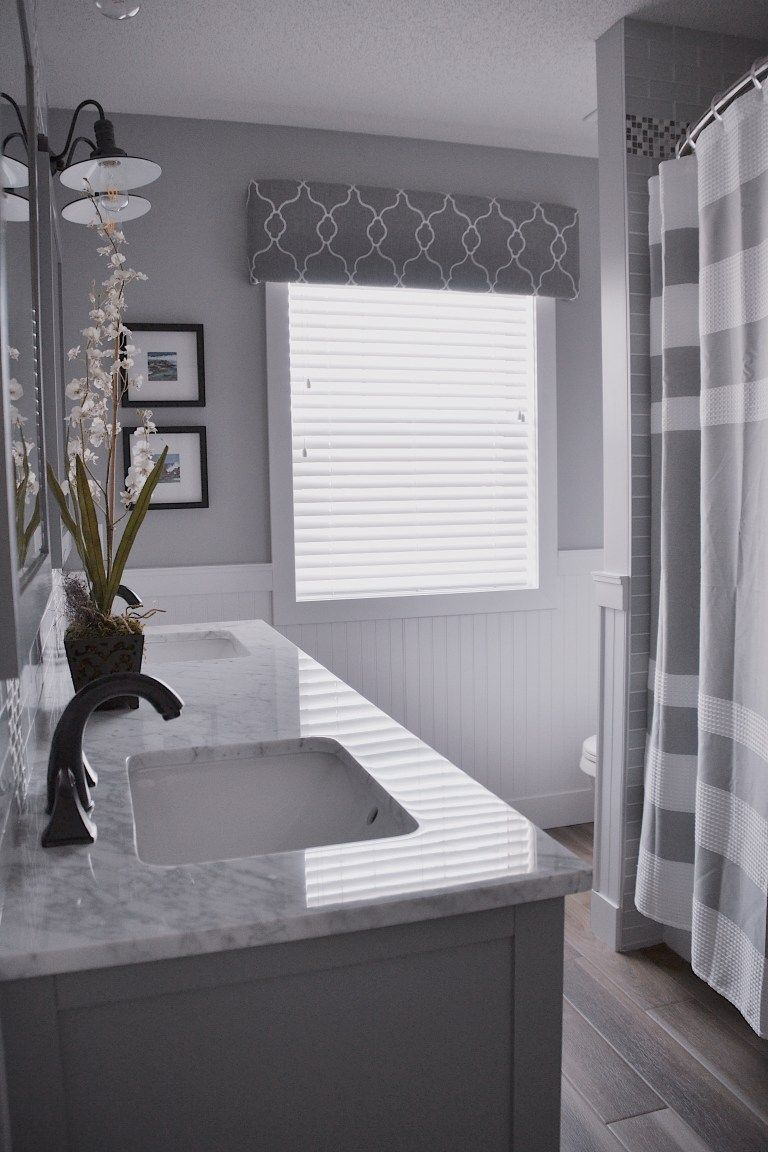 Main Bathroom Renovation Reveal | Cheap bathroom remodel ... on Main Bathroom Ideas  id=82161