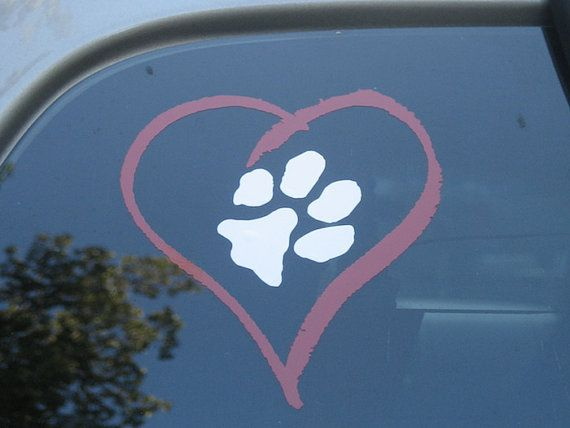 4 x 5.5 I Love My Cats Magnet Silhouette Magnetic Bumper Sticker