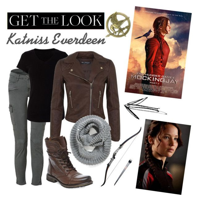 """Get the Look : Katniss Everdeen"" by mathildebounhol on Polyvore featuring J Brand, Miss Selfridge, Steve Madden and Element"
