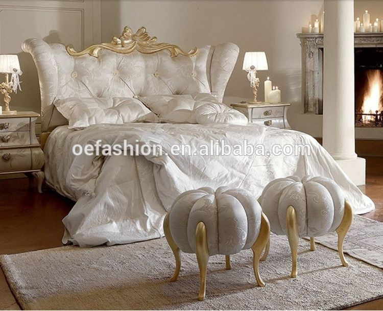 luxury modern italian style hotel bed sheets new double bed design