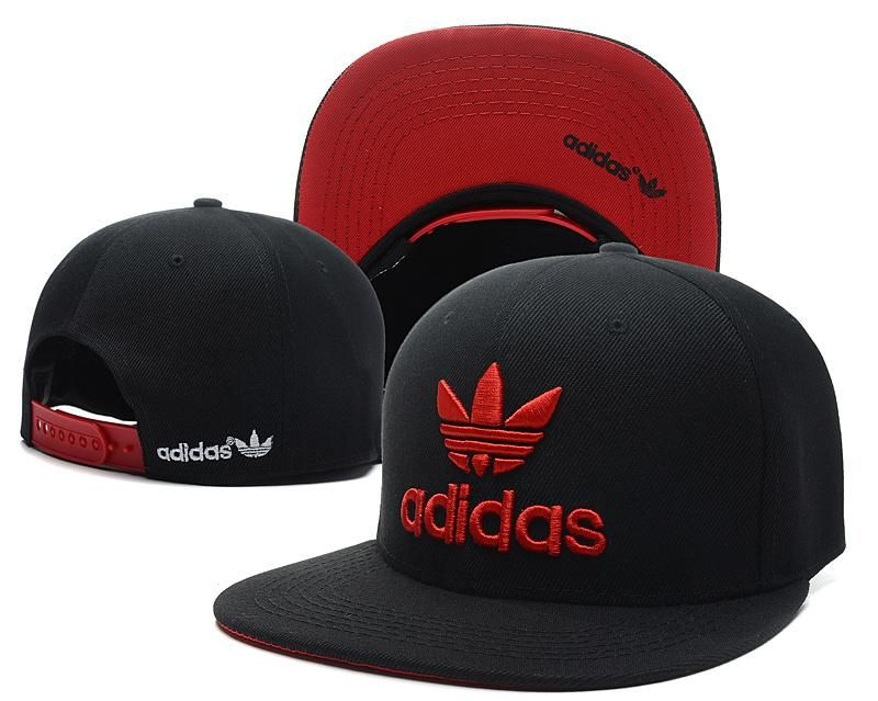 Mens Adidas Originals Thrasher Clover Logo Embroidery Front Best Quality  Retro Baseball Snapback Cap - Black   Red a76205c8fe1