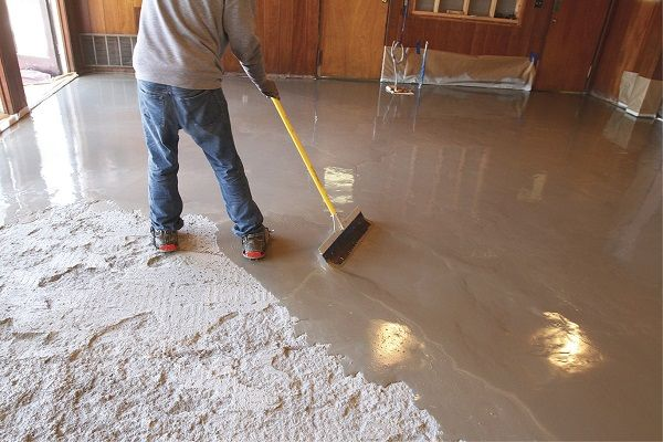 Self Levelling Concrete Is A Step Beyond The Traditional Type Of Concrete The Main Reason Be Concrete Basement Floors Concrete Floor Leveling Concrete Topping