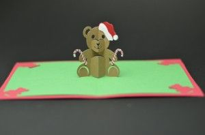 Teddy Bear Pop Up Card Tutorial And Template Creative Pop Up Cards Pop Up Christmas Cards Pop Up Card Templates Pop Up Cards