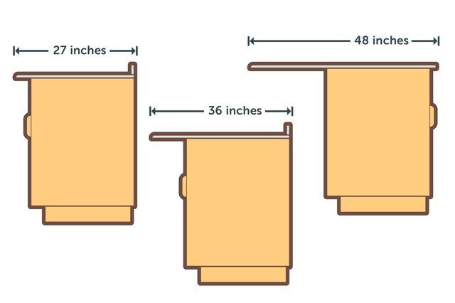 What Is The Standard Width Of A Kitchen Countertop Hunker Kitchen Island Dimensions Kitchen Cabinet Sizes Small Kitchen Island