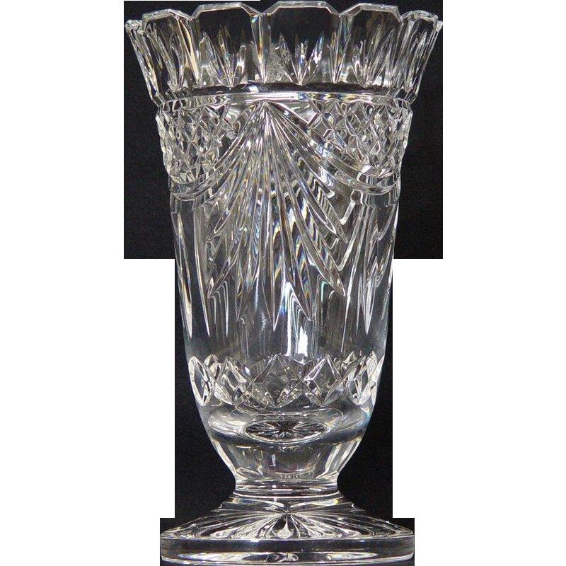 Waterford Society Vase Crystal Glassware Waterford Crystal