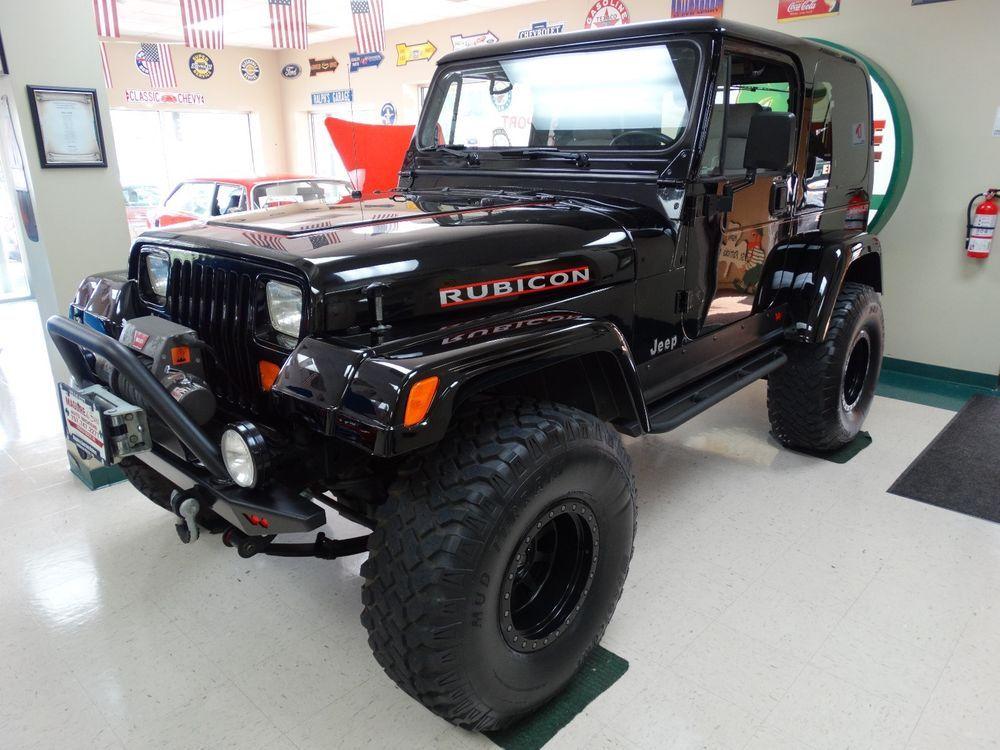 1995 Jeep Wrangler 1995 Jeep Wrangler Yj Super Clean Warn Armored Deep Black Paint Jeep Yj Jeep Gear Jeep Wrangler Yj