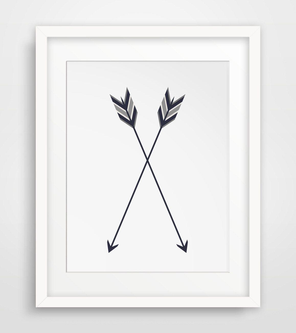 Arrow Wall Art arrow print, two arrows, crossed arrow wall art, two arrows wall