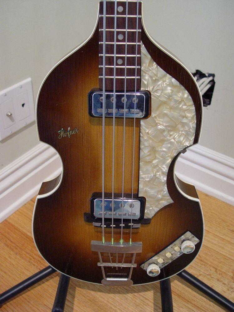 1962 Hofner 500 1 Beatle Bass Paul Mccartney Spec Right Hand Original Case Extra Hofnervox Paul Mccartney Bass Guitar Bass Guitar Accessories