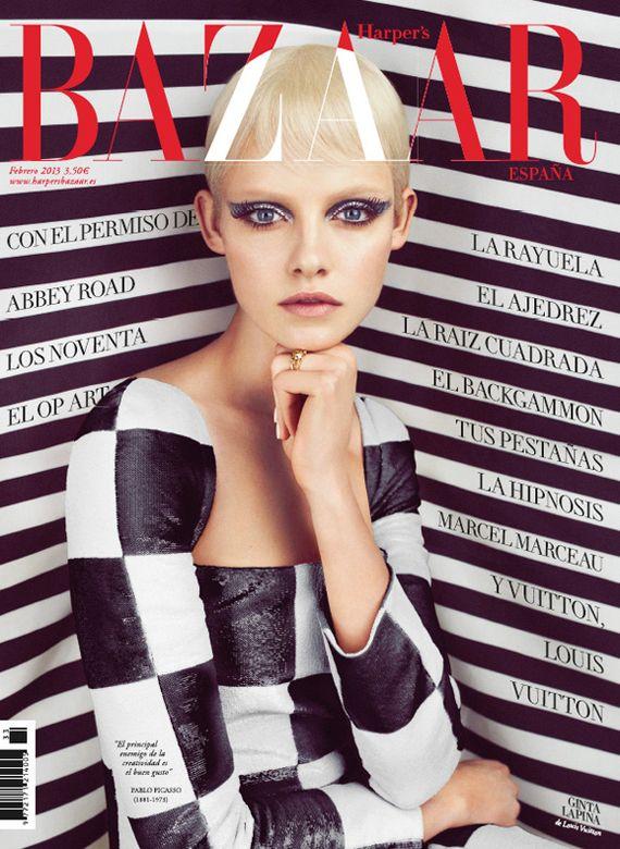Ginta Lapina for Harper's Bazaar Spain February 2013