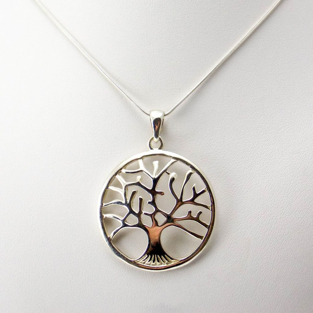 life ladies cut jewellery shop pendant out sterling silver necklace tree of