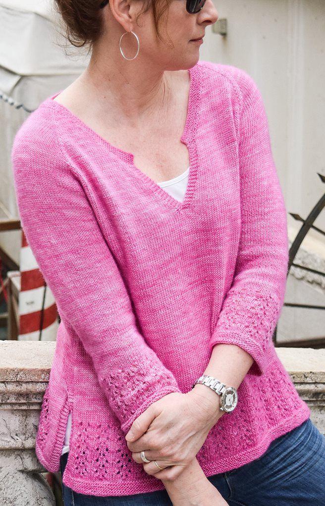 6a62059b468 Пуловер из тонких ниток спицами с описанием
