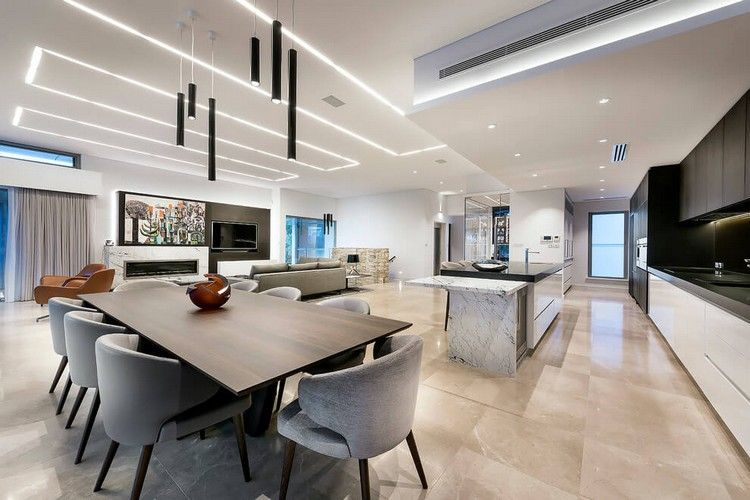 led deckenbeleuchtung luxurises einfamilienhaus in australien - Deckenbeleuchtung