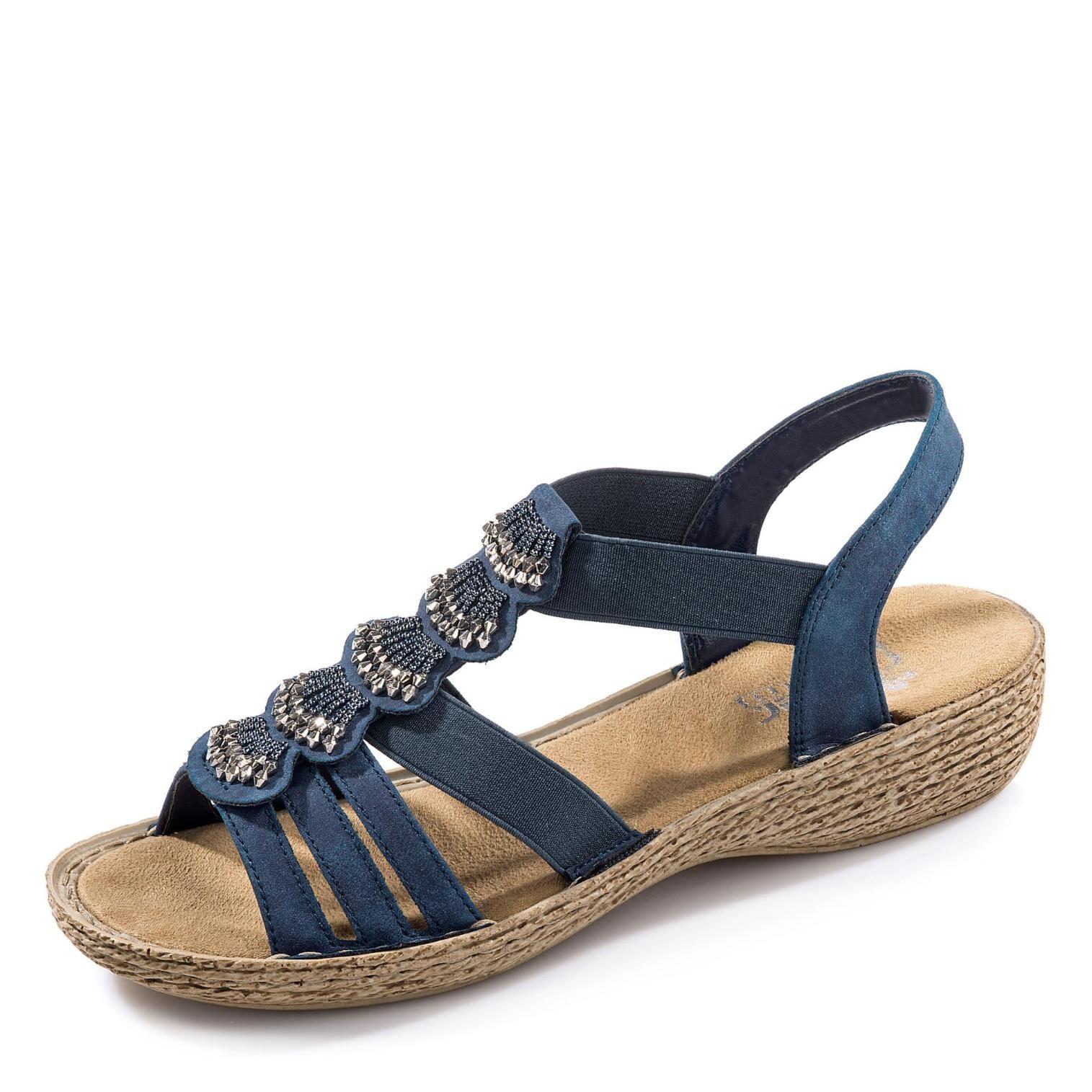 Rieker Sandale Blau Um 9 Reduziert Markenschuhe Sommerschuhe Marken Schuhe Markenschuhe
