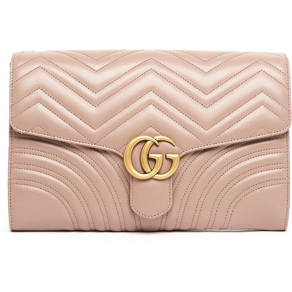 2a47479709b1 GUCCI 'Gg Marmont 2.0' Clutch ($1,130) ❤ liked on Polyvore featuring bags,  handbags, clutches, sac, real leather purses, gucci clutches, gucci  pochette, ...