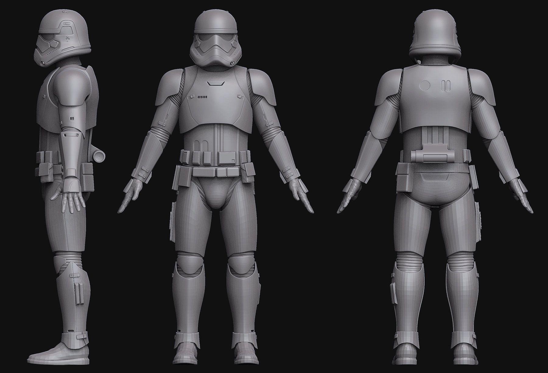 ArtStation - First Order Stormtrooper WIP, Darren Pattenden